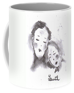 Coffee Mug featuring the drawing Love by Laurie L