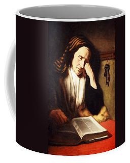 Mae's An Old Woman Dozing Over A Book Coffee Mug by Cora Wandel