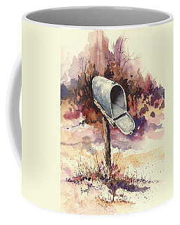 Coffee Mug featuring the painting Mailbox by Sam Sidders