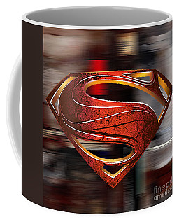 Man Of Steel Superman Coffee Mug by Marvin Blaine