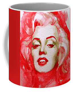 Coffee Mug featuring the painting Marilyn by Laur Iduc