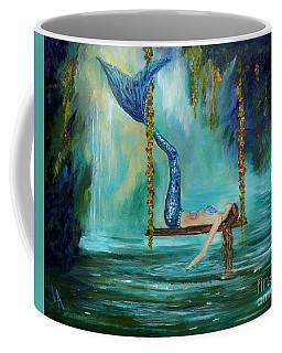 Mermaids Lazy Lagoon Coffee Mug by Leslie Allen