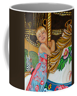 Coffee Mug featuring the painting Merry-go-round by Sharon Schultz