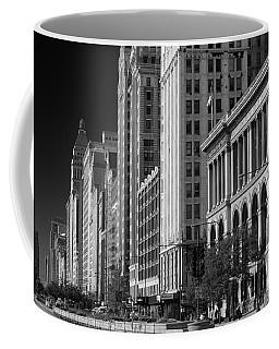 Michigan Avenue Chicago B W Coffee Mug