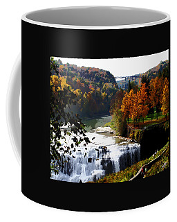 Coffee Mug featuring the photograph Middle Falls Letchworth State Park by John Freidenberg
