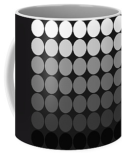 Mod Pop Gradient Circles Black And White Coffee Mug