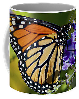 Coffee Mug featuring the photograph Monarch Butterfly by David Millenheft