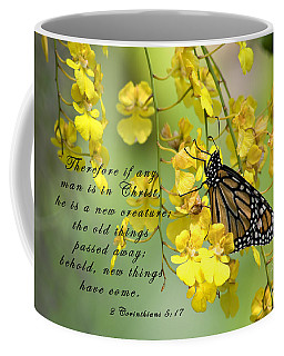 Monarch Butterfly With Scripture Coffee Mug