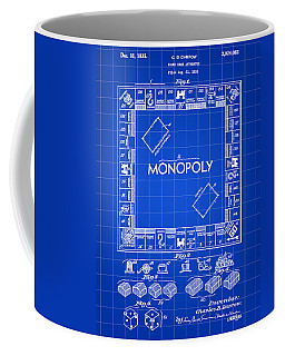 Monopoly Patent 1935 - Blue Coffee Mug by Stephen Younts