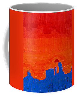 Monument Valley Original Painting Coffee Mug by Sol Luckman