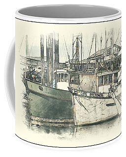 Moored Fishing Boats Coffee Mug