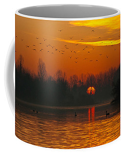 Morning Over River Coffee Mug