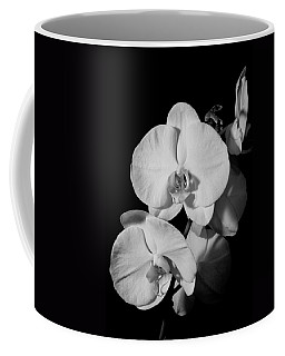Moth Orchid Bw Coffee Mug by Ron White