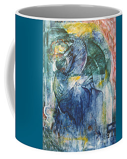 Coffee Mug featuring the painting Mother And Child by Diana Bursztein