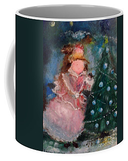 Coffee Mug featuring the painting Mother Christmas by Laurie Lundquist