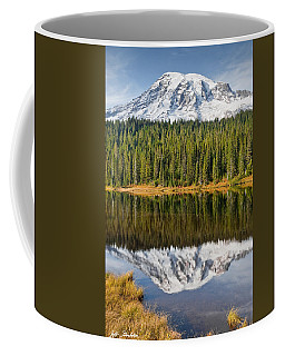 Mount Rainier And Reflection Lakes In The Fall Coffee Mug