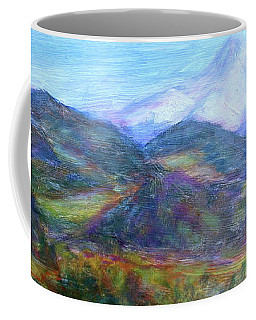 Mountain Patchwork Coffee Mug by Quin Sweetman