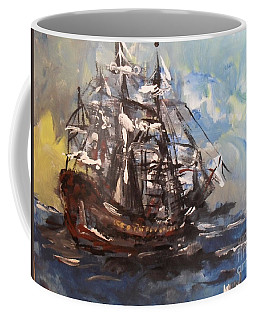Coffee Mug featuring the painting My Ship by Laurie Lundquist