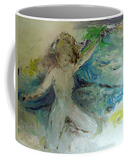 Coffee Mug featuring the painting My Vagina by Laurie Lundquist