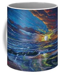 Coffee Mug featuring the pastel Never Ending Sea by Peter Suhocke
