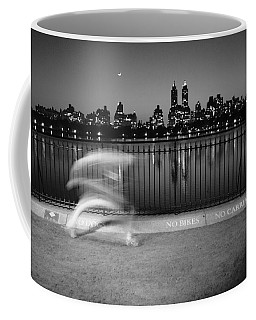 Night Jogger Central Park Coffee Mug by Dave Beckerman
