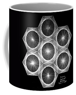 Coffee Mug featuring the drawing Nuclear Fusion by Jason Padgett