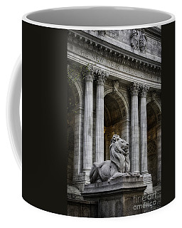 Ny Library Lion Coffee Mug