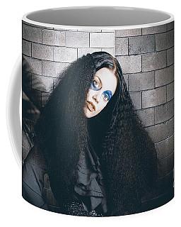 Occult Medieval Performer On Castle Brick Wall Coffee Mug