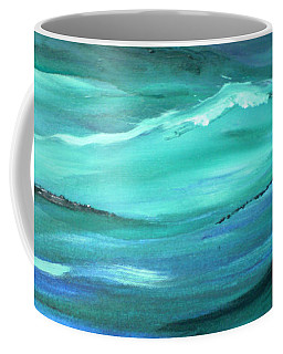 Ocean Swell Abstract Painting By V.kelly Coffee Mug