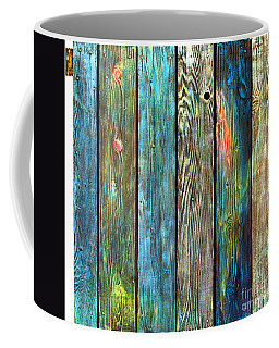Old Barnyard Gate With Colors Brightened Coffee Mug by Asha Carolyn Young