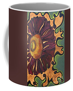 Coffee Mug featuring the painting Old Fashion Flower by Jolanta Anna Karolska