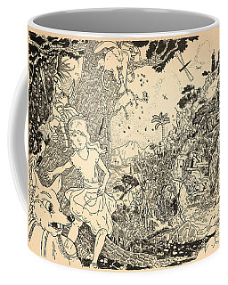 Coffee Mug featuring the drawing Open Sesame by Reynold Jay