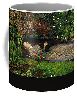 Coffee Mug featuring the painting Ophelia by John Everett Millais