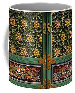 Paintings On The Door Of A Buddhist Coffee Mug