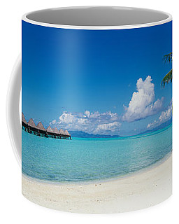 Palm Tree On The Beach, Moana Beach Coffee Mug