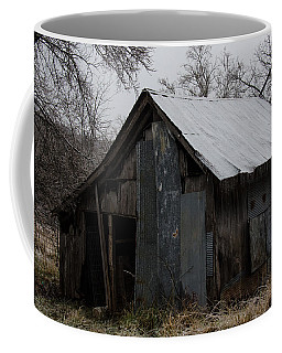 Patchwork Barn With Icicles Coffee Mug