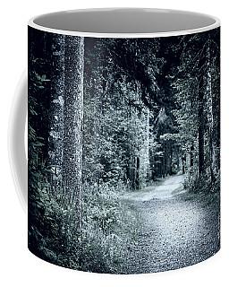 Path In Dark Forest Coffee Mug
