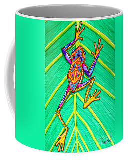 Peace Frog Coffee Mug by Nick Gustafson