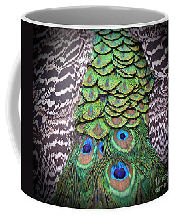 Coffee Mug featuring the photograph Peacock Plumage  by Jim Fitzpatrick