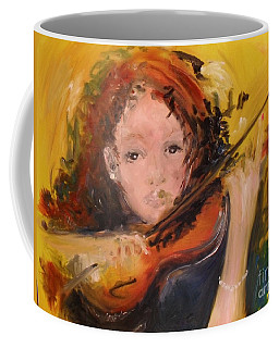 Coffee Mug featuring the painting Pearl by Laurie Lundquist