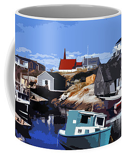 Peggy's Cove Coffee Mug by Lydia Holly