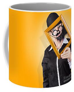 Person Setting Their Social Media Profile Picture Coffee Mug