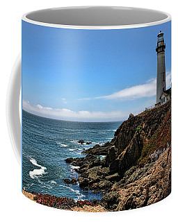 Pigeon Point Lighthouse Coffee Mug by Judy Vincent