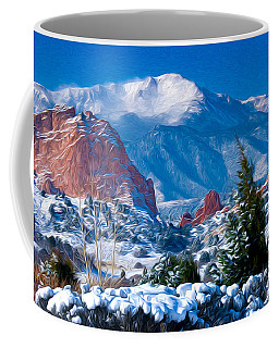 Pikes Peak In Winter Coffee Mug
