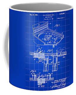 Pinball Machine Patent 1939 - Blue Coffee Mug