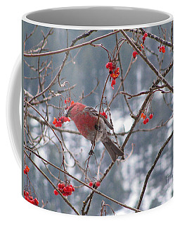 Pine Grosbeak And Mountain Ash Coffee Mug