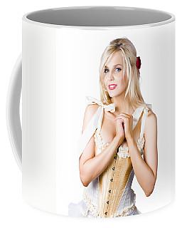 Pinup Woman In Corselet Dress Coffee Mug