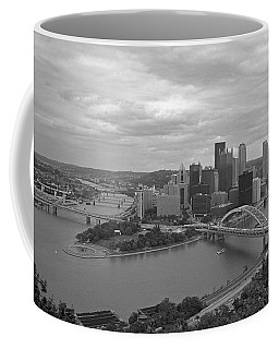 Pittsburgh - View Of The Three Rivers Coffee Mug by Frank Romeo
