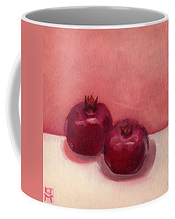 Coffee Mug featuring the painting Pomegranates by Katherine Miller
