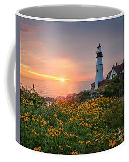 Portland Head Light Sunrise  Coffee Mug by Michael Ver Sprill